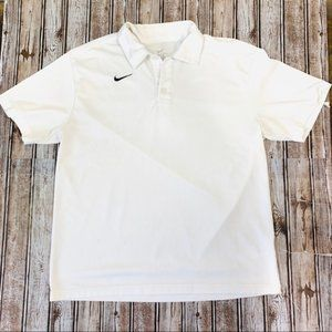 Nike Dry Fit Waffle Polo Golf Shirt Size Large